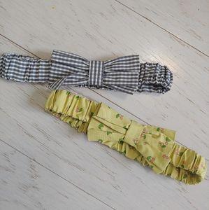 Matilda Jane elastic bow belts 2pk